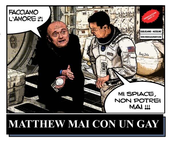 Matthew Mai con un Gay