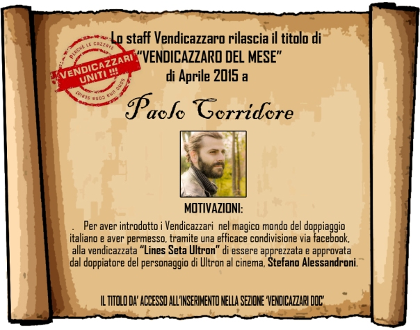 Paolo Corridore vendicazzaro del mese