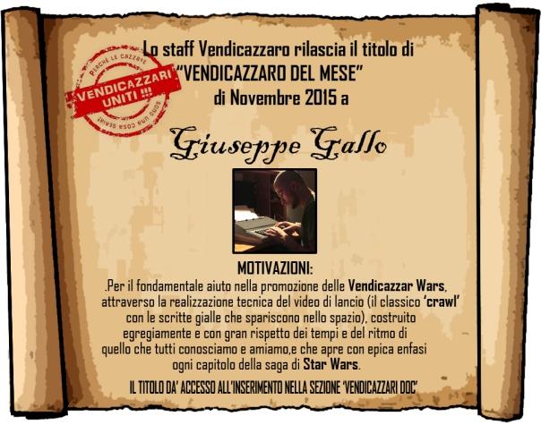 Giuseppe Gallo Vendicazzaro del mese